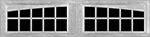 20 Lite Arched window for fiberglass garage doors