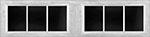 6 Lite Square window for fiberglass garage doors
