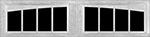 8 Lite Arched window for fiberglass garage doors