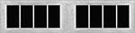 8 Lite Square window for fiberglass garage doors