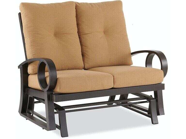 Eclipse Autumn Rust Aluminum, Bamboo Patio Furniture Cushions