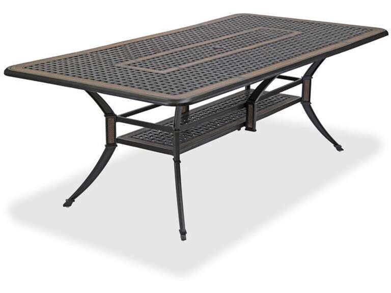 84 X 42 Rectangular Cast Aluminum Table