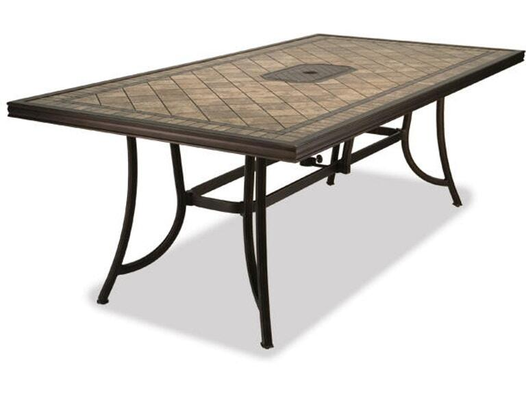 84 X 42in Aluminum Dining Table