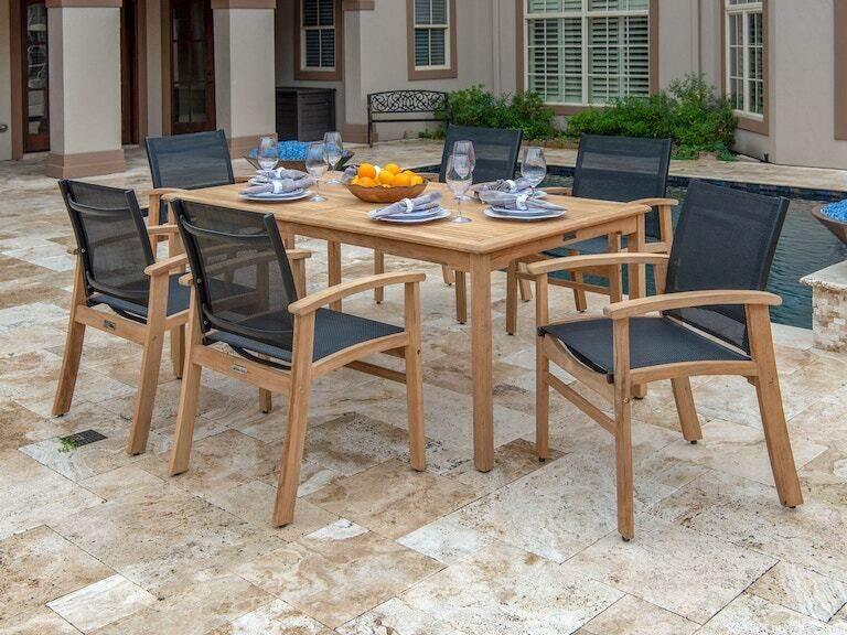 Outdoor Patio Sedona Natural Stain Teak