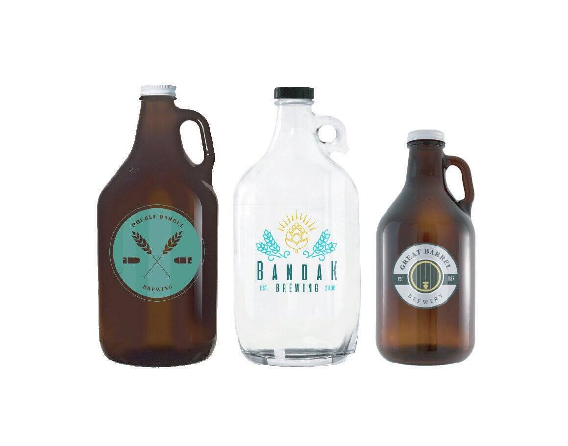 Decorated Growlers