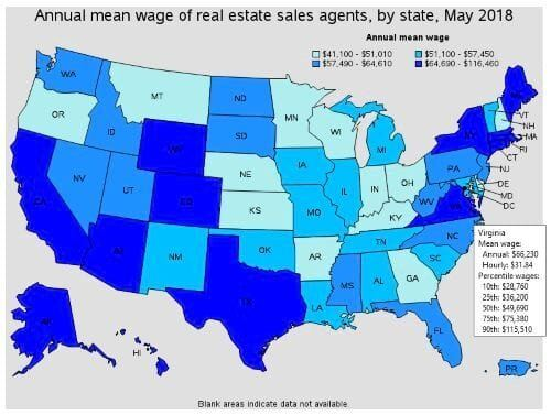 How Much Is The Average Virginia Real Estate Salary