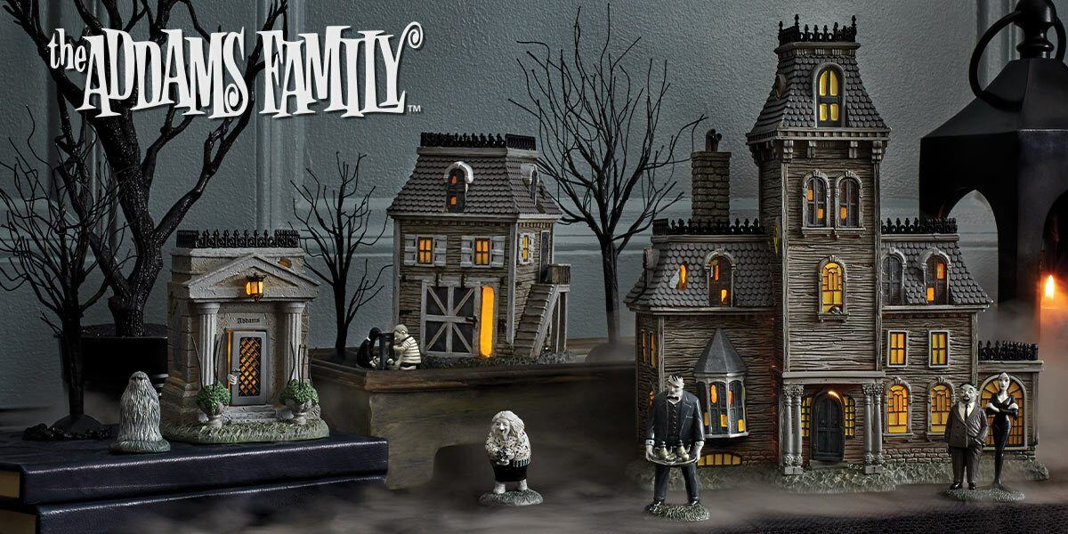 The Addams Family Village Tagged Lighted Buildings Enesco Gift Shop