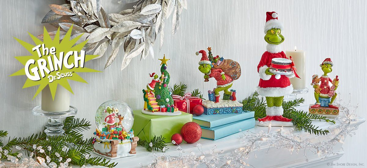 Grinch Collection Tagged Figurine Enesco Gift Shop