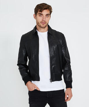 Neuw Heroes Leather Jacket Black Jackets Clothing Shop Mens General Pants Co