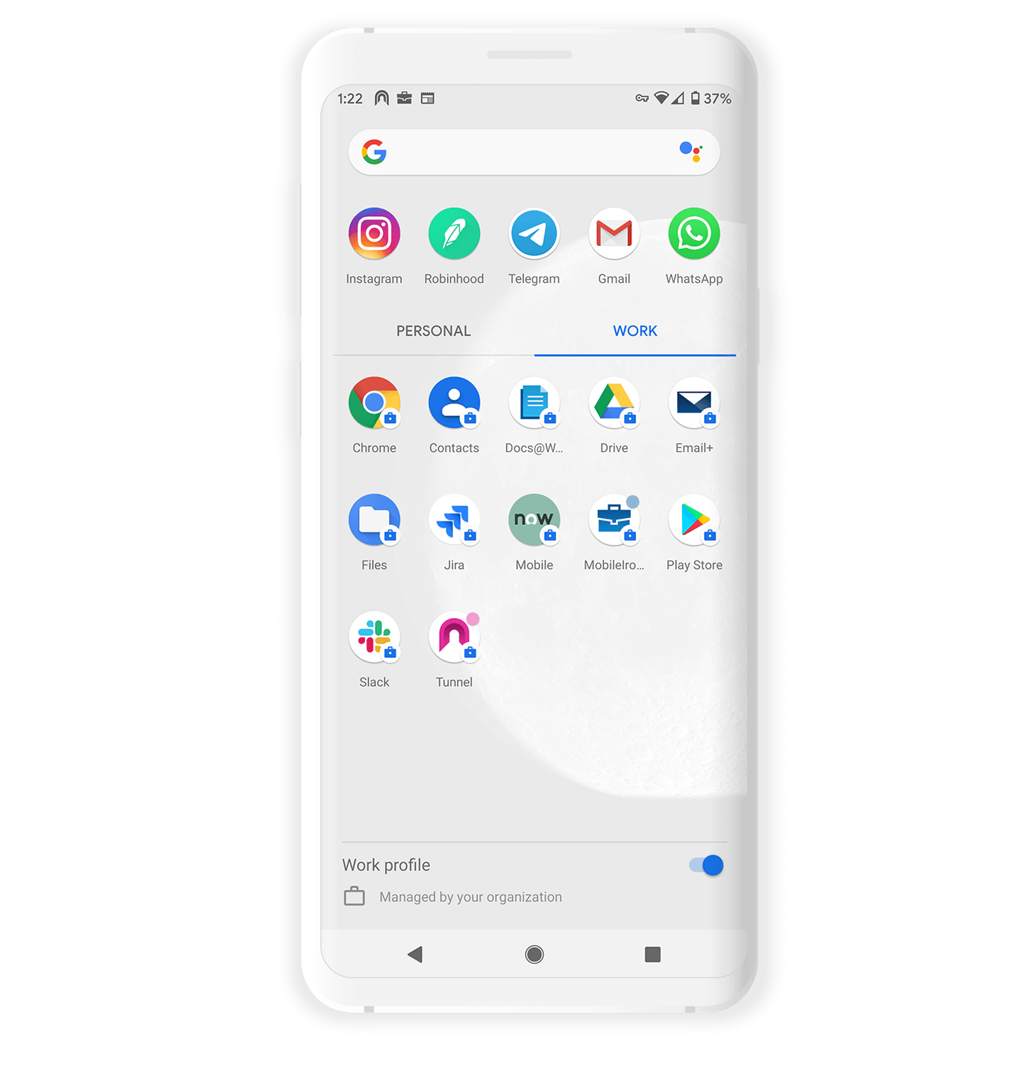 Productivity Apps for Android Devices, Secure Mobile Browsing, Secure Email, Contacts and Documents with MobileIron UEM