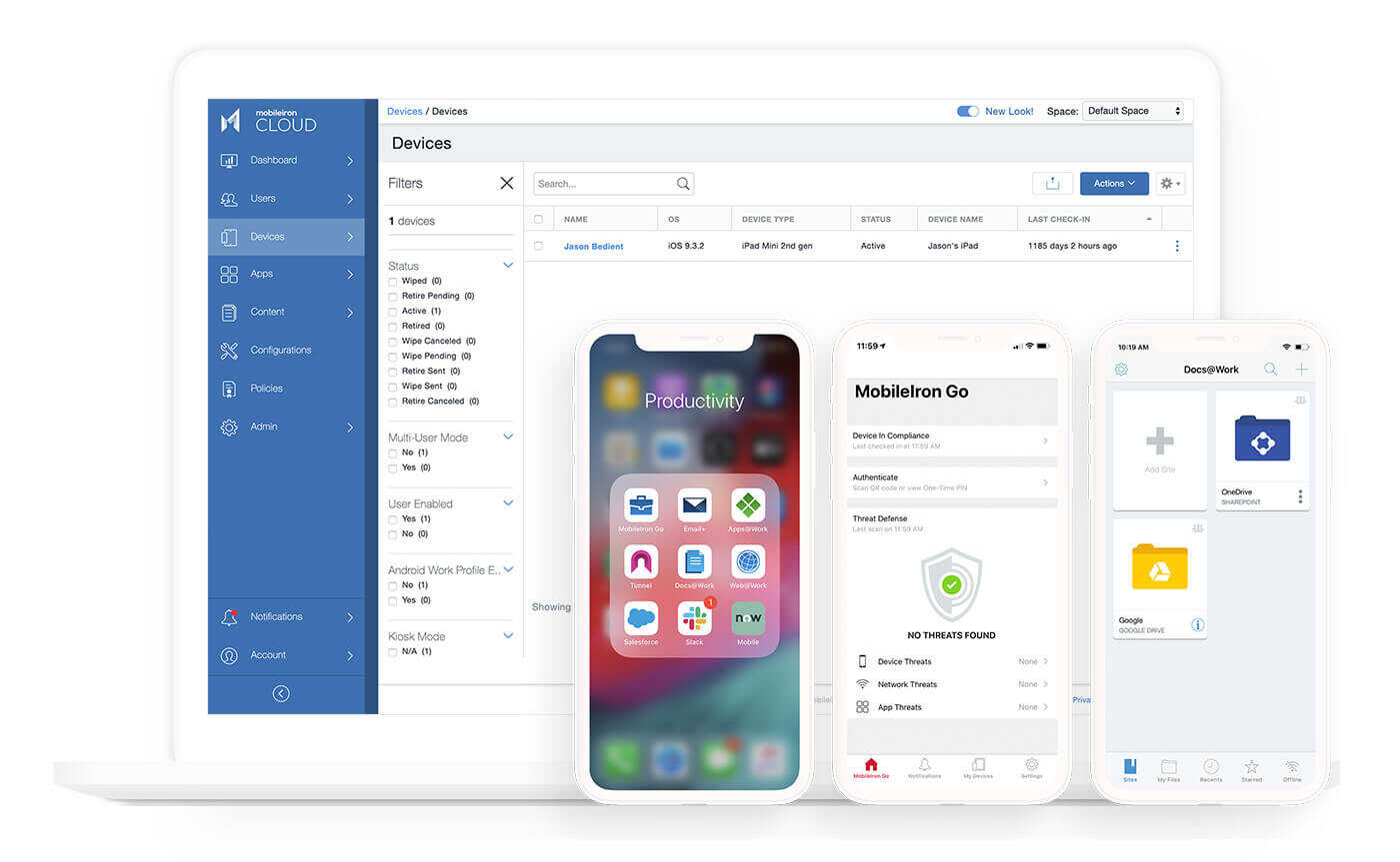 UEM for iOS, macOS, Android and Windows 10 devices