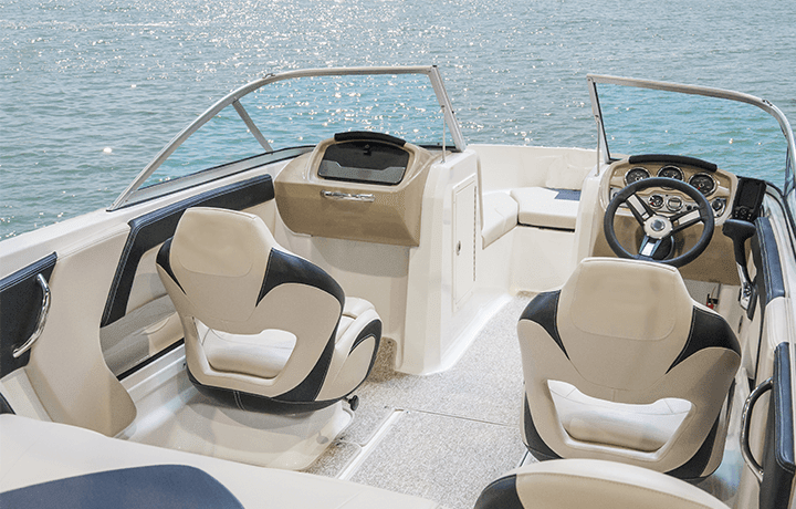 Professional boat upholstery cleaning services.