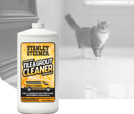 Bottle of Stanley Steemer Tile and Grout Cleaner