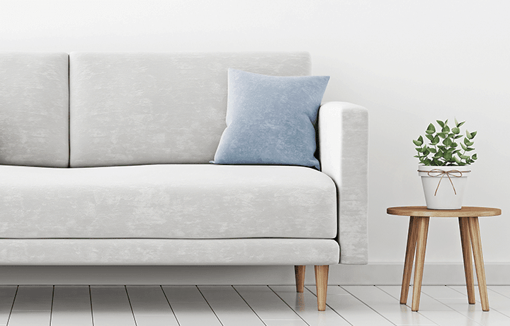 Light gray microfiber couch