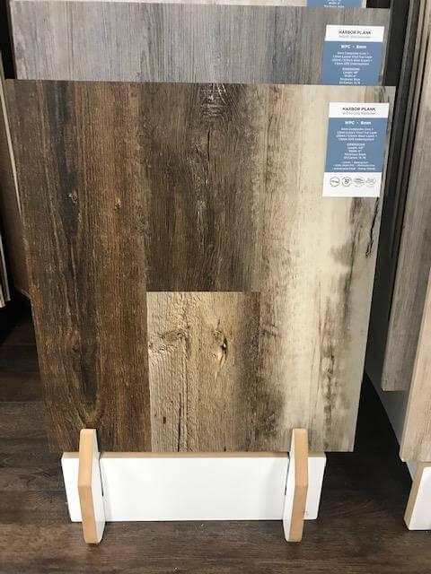 LVT floor sample at showroom in Grand Rapids