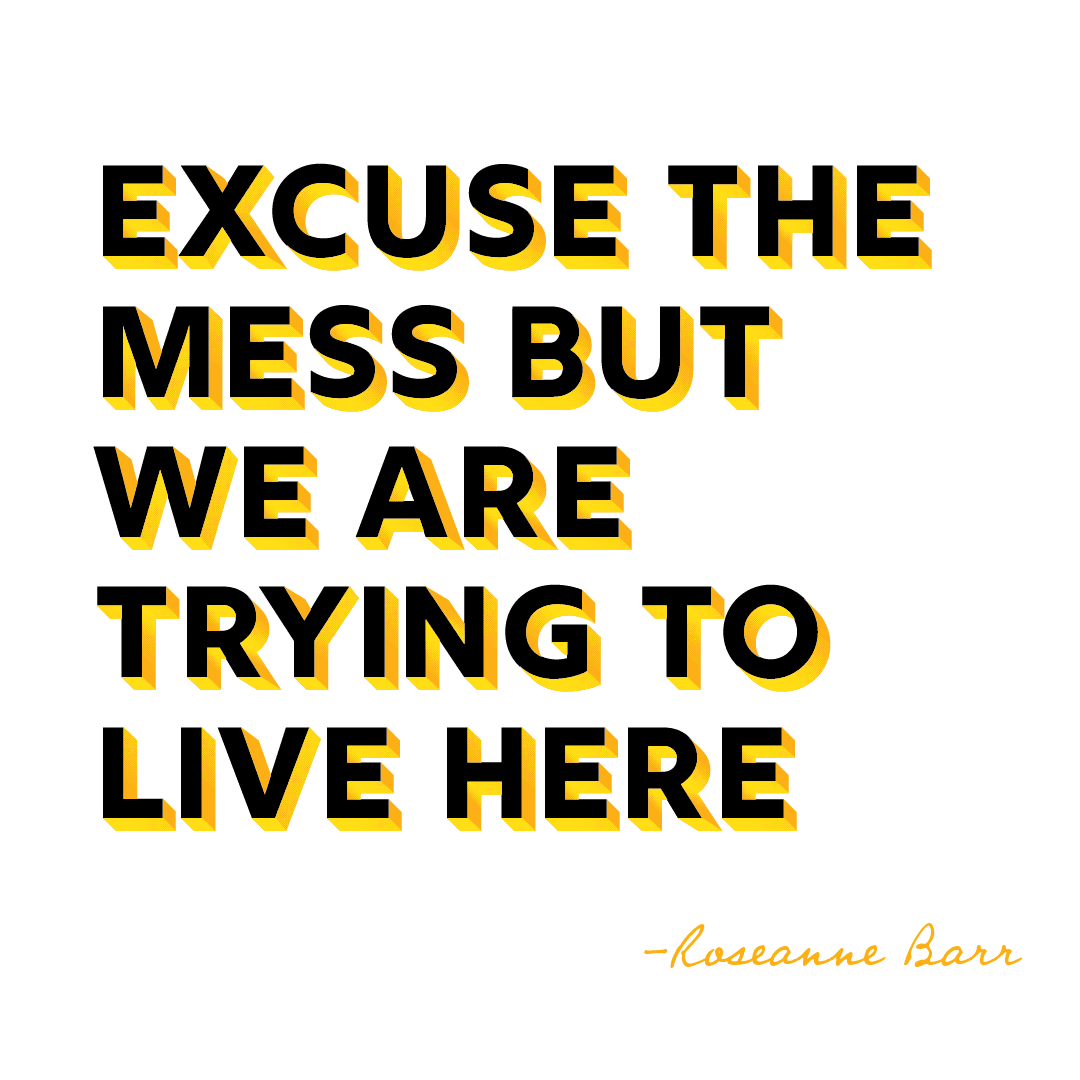 Quote: Excuse the mess but we are trying to live here