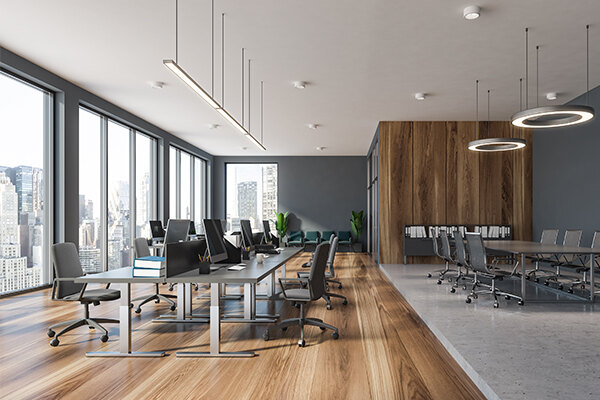 Clean open space office