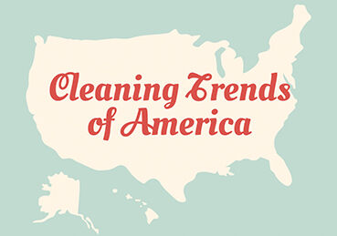 """Map of USA that reads """"Cleaning Trends of America"""""""