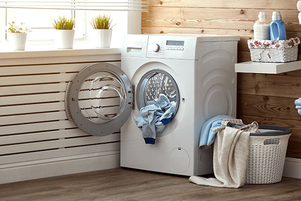 Dryer with load of laundry