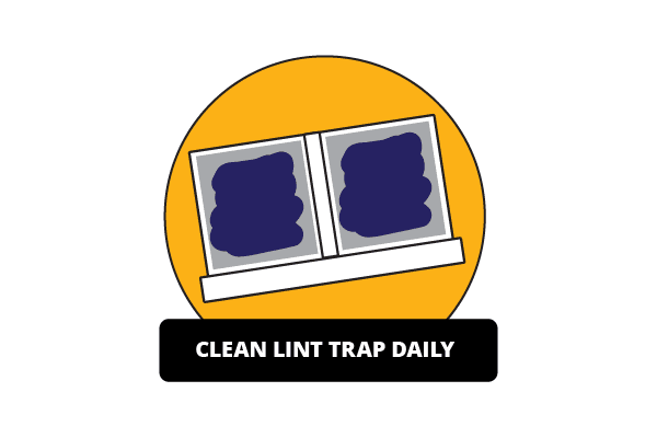 Illustration of dirty lint trap