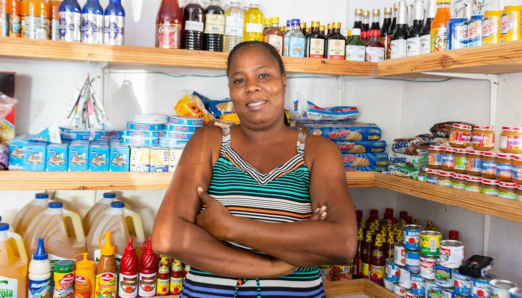 Sandrine Charles is one of many FINCA Haiti clients who will benefit from new mobile banking initiatives.