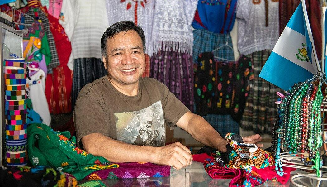 Israel Coguox in his Shop