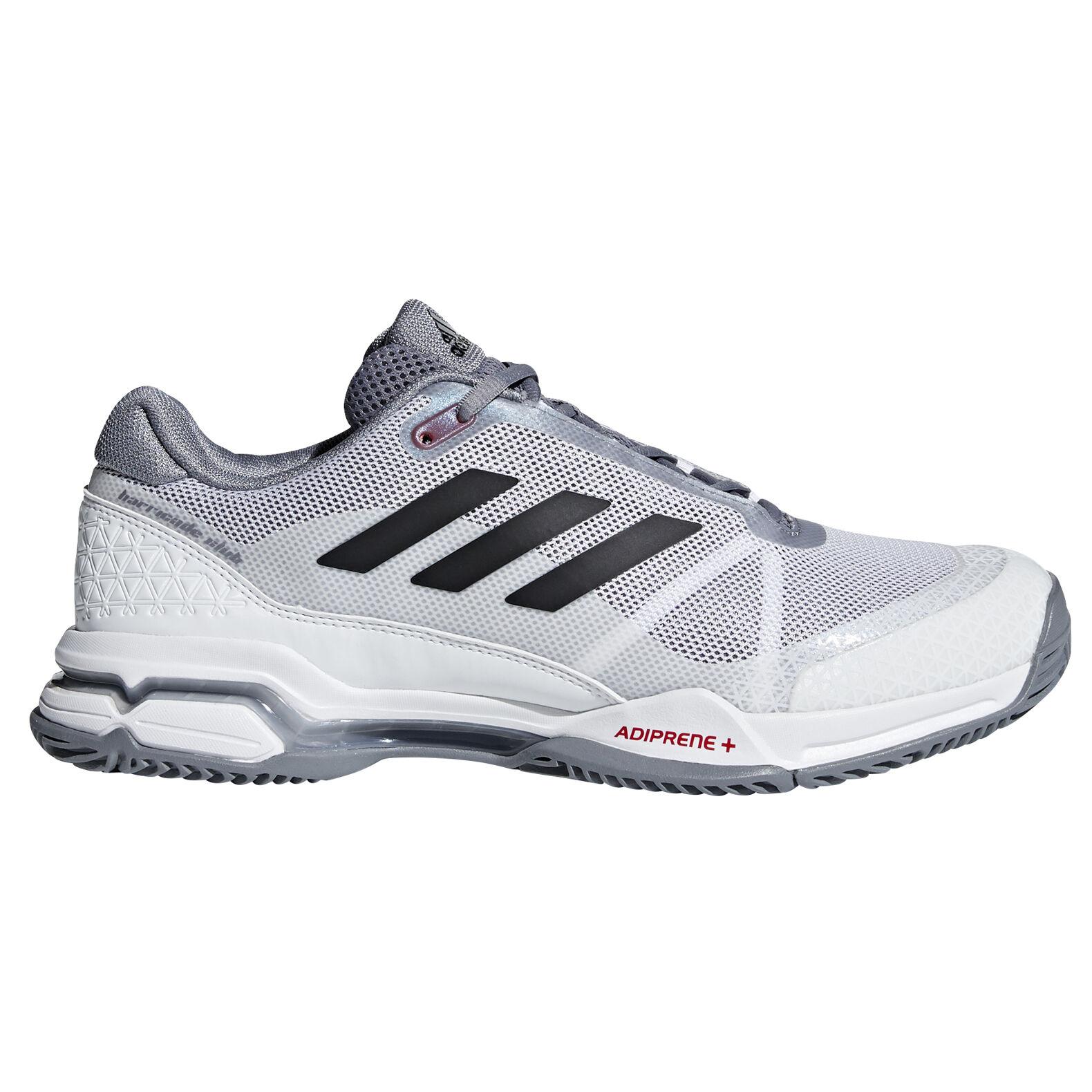 adidas Barricade Club Men's Tennis Shoe - White/Black