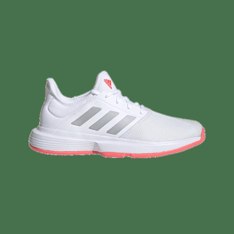 Adidas Gamecourt Women's Tennis Shoe - White/Pink