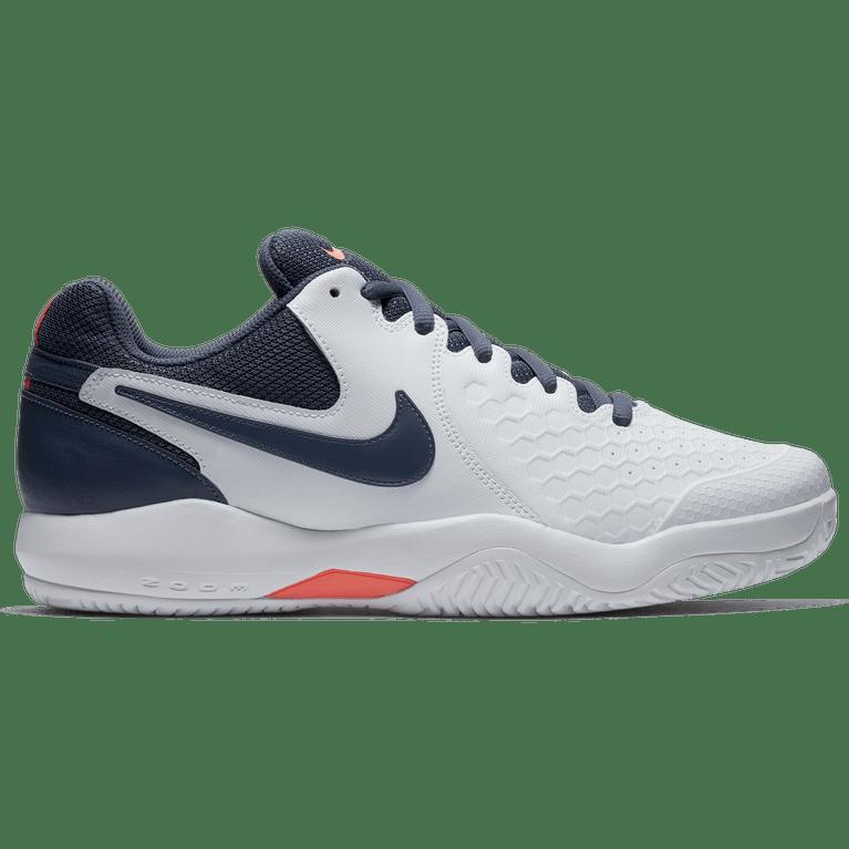 Nike Air Zoom Resistance Men's Tennis Shoe - White/Blue