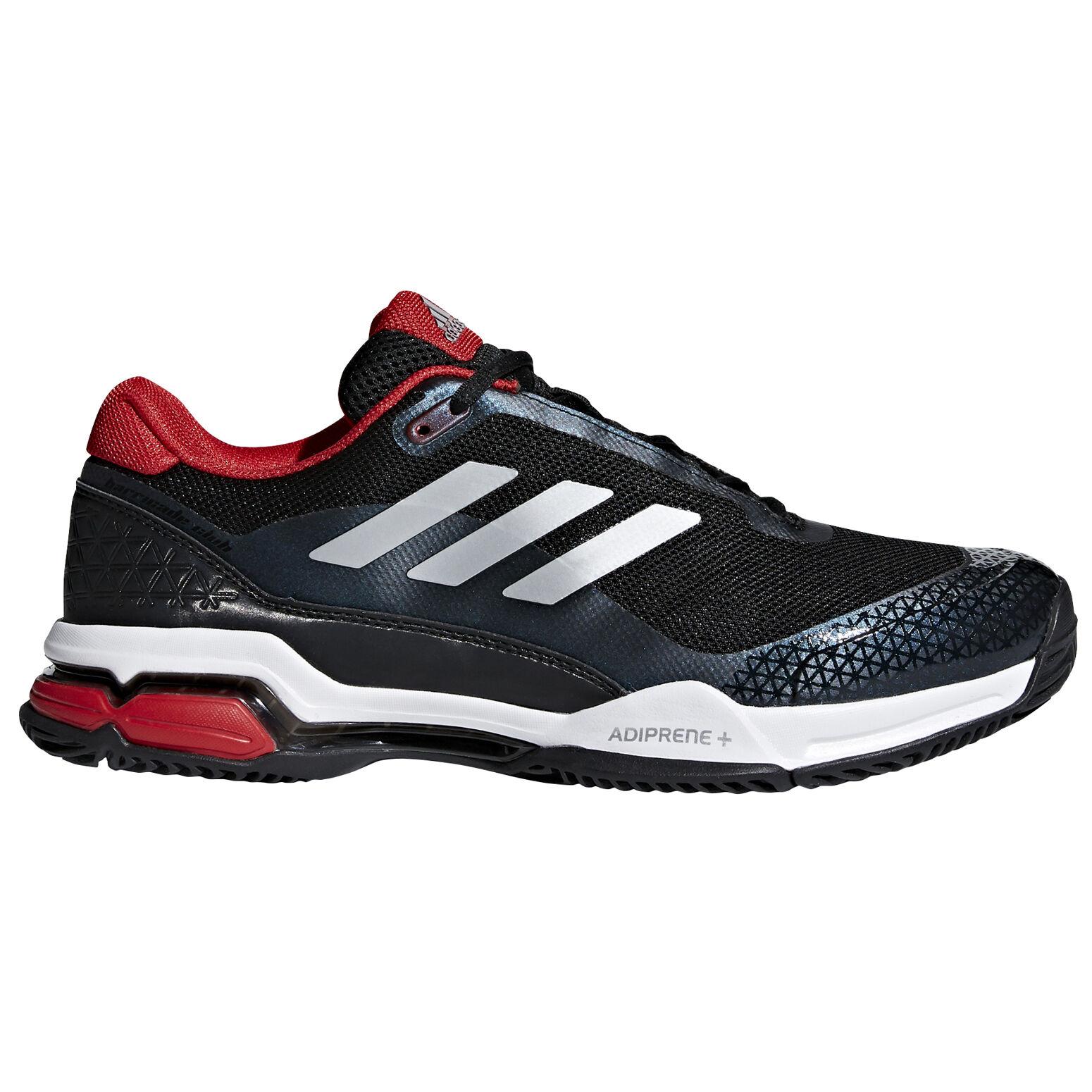 adidas Barricade Club Men's Tennis Shoe - Black/Red