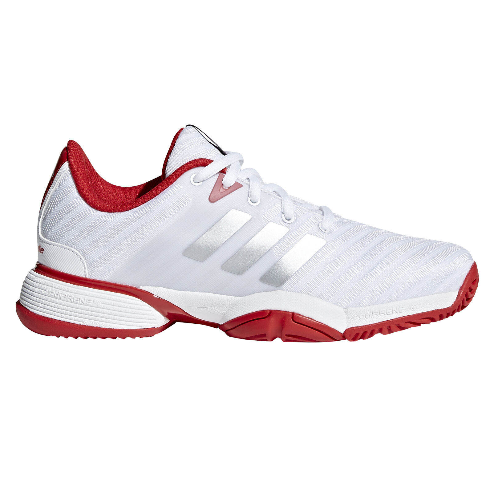 adidas Barricade xJ Junior's Tennis Shoe - White/Red