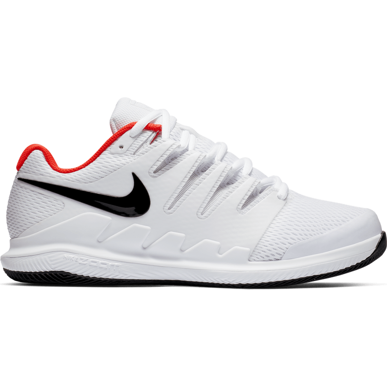Nike Air Zoom Vapor X Wide Men's Tennis Shoe - White/Black/Red