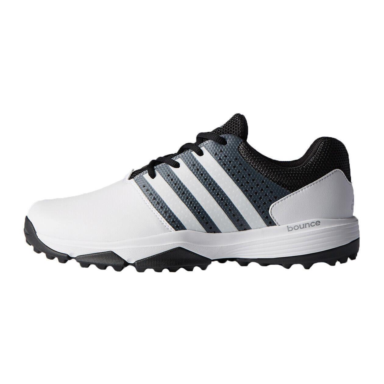 adidas 360 TRAXION Men's Golf Shoe - White/Black
