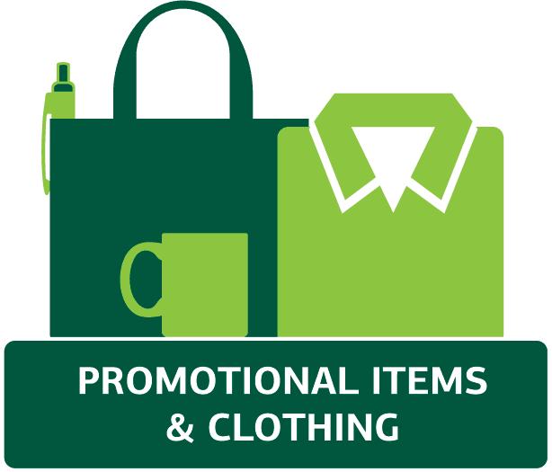 Promotional Items and Clothing Image