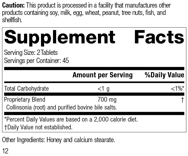 Cholacol® Supplement Facts