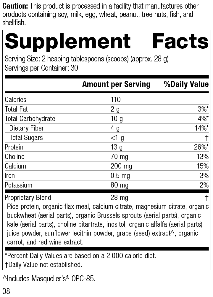 SP Complete® Dairy Free Supplement Facts