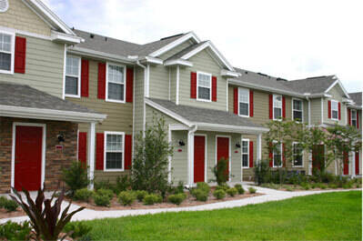 picture of row of condominums