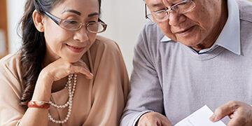 seniors reviewing estate plan documents