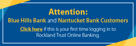 Logging in to Rockland Trust Online Banking