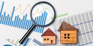 real estate value stock photo