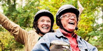 seniors riding motorcycle