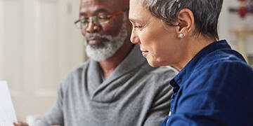couple reviewing social security benefits