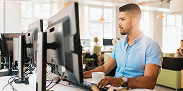 person working on their laptop
