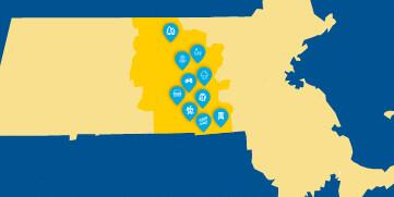 central massachusetts map