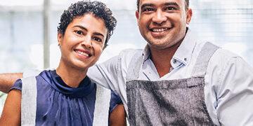 entrepreneurs at florist shop