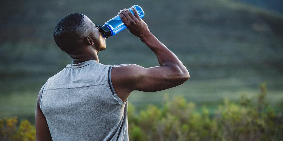 man drinking Primo Water