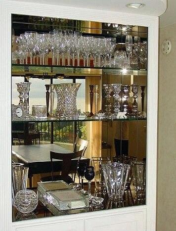 Bar Mirrors Binser Glass, Bar Mirror With Glass Shelves