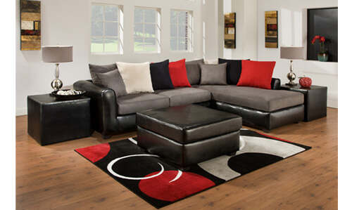 Young style sectional with great colors