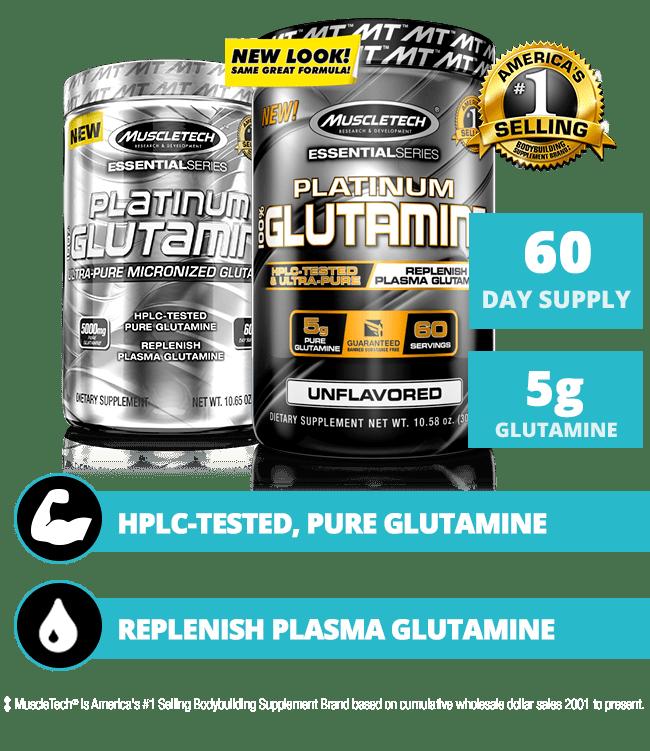 PLATINUM 100% GLUTAMINE | MuscleTech