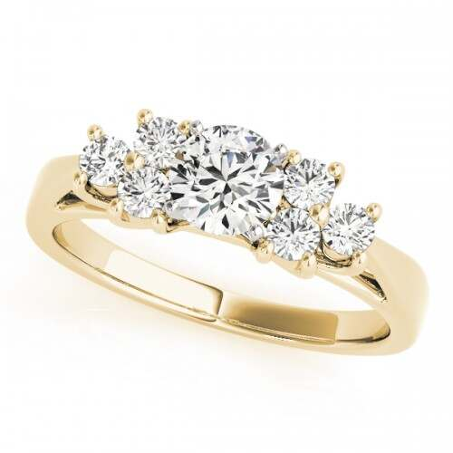 14k Yellow Gold Diamond Cluster Engagement Ring Dunkin S Diamonds